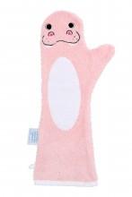 Baby shower glove dolfijn / roze